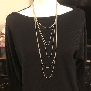 Jewelry - Multi chain necklace, silver..